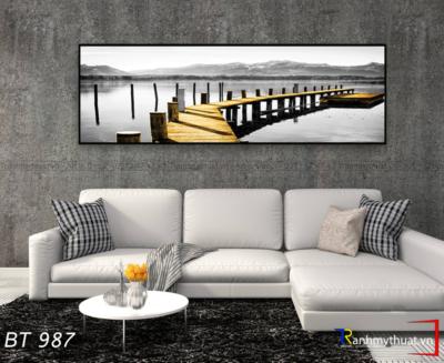 Tranh Cây Cầu Vàng