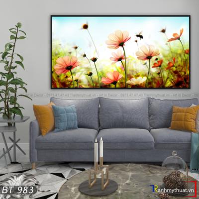 Tranh Hoa Cúc Và Ong